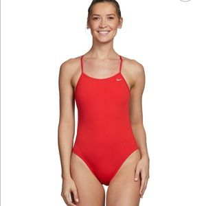 Nike red swimsuit one piece